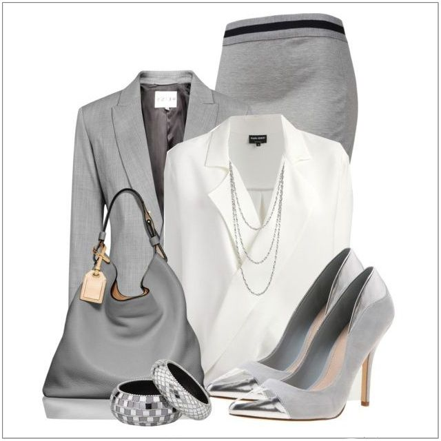 CHATA'S DAILY TIP: We show how to take grey from monotonous to magnificent! This ensemble is oh-so-chic and glamorously elegant – a fabulously fashionable look for a woman that means business! If you have a Medium skin tone, opt for a stronger tone of grey, like charcoal. Silver accessories finish off this outfit so perfectly. COPY CREDIT: Chata Romano Image Consultant, Marlise du Plessis http://chataromano.com/consultant/marlise-duplessis/ IMAGE CREDIT: Pinterest