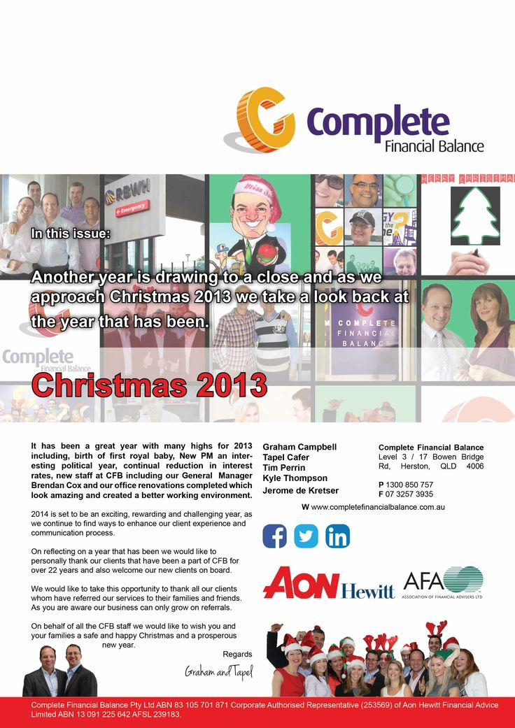 The Complete Financial Balance 2013 Summer Newsletter #CompleteFinancialBalance