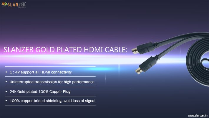 #HDMICable by #SlanzerTechnology transmits crystal-clear digital video, multi-channel surround audio and advanced control data through a single cable.