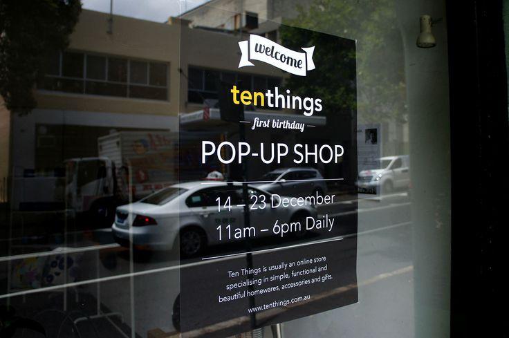 Ten Things Pop-Up Shop | December 2013