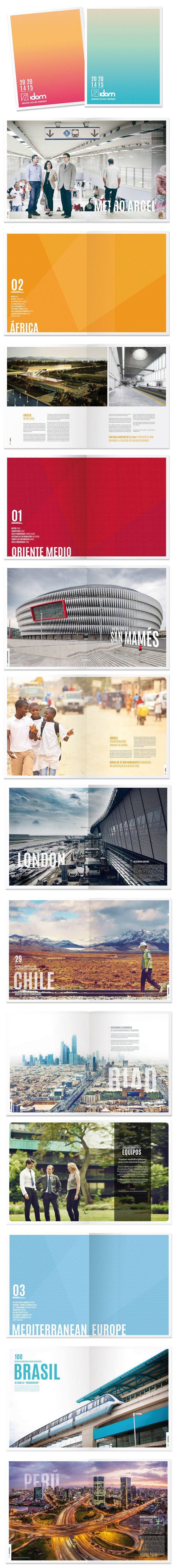 Annual Report 2014-2015 for Idom by Muak Studio #graphicdesign #editorialdesign http://www.muak.cc/