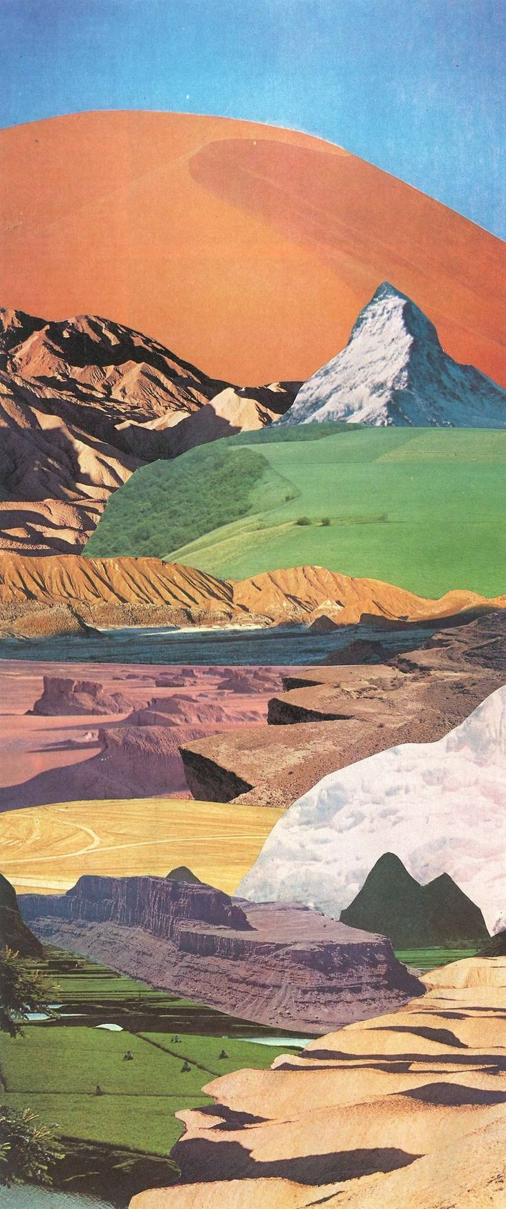 collage by jesse treece #LandscapeCollage