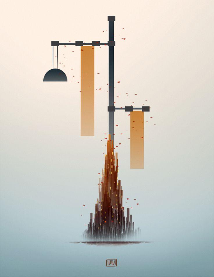 Street Lamps and CIty - Scott Uminga