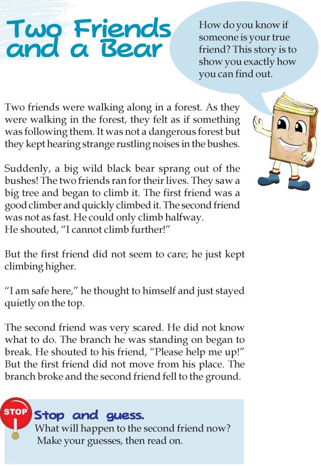 Printables Examples Short Story For Grade Three With Exercises 1000 images about stories and exercises on pinterest present grade 3 reading lesson 11 fables folktales two friends a bear