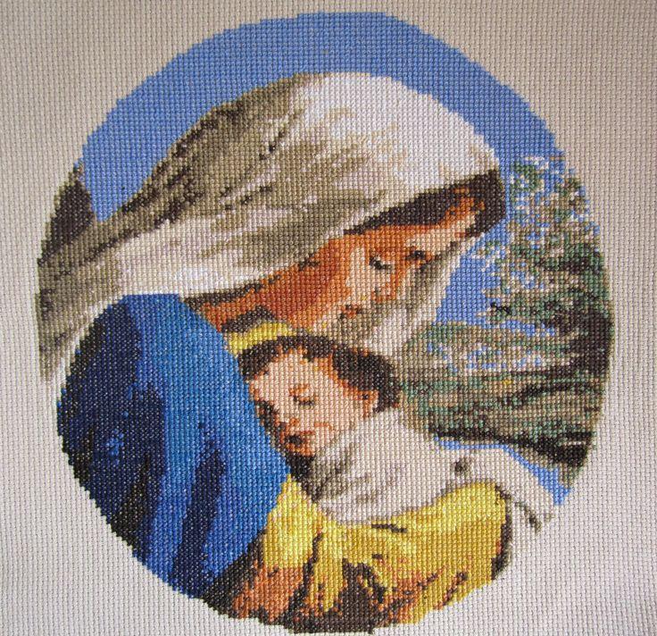 La Virgen con el niño.