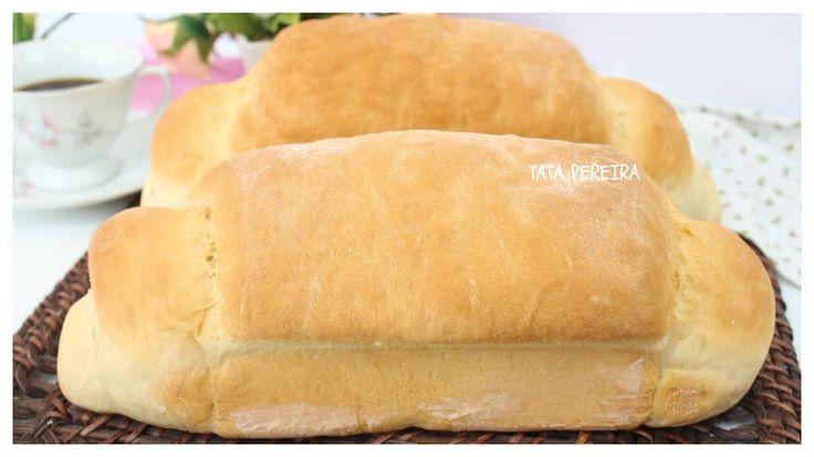 PÃO CAIPIRA❤FACIL, RAPIDO E DELICIOSO = = 1 xícara (chá) de leite 2 tablete de fermento biológico fresco (30g) 1kg de farinha de trigo 1 ovo 1 colher (sopa) de açúcar 1 colher (sobremesa) de sal 40g de manteiga Forma untada com manteiga e farinha Rolo para abrir a massa
