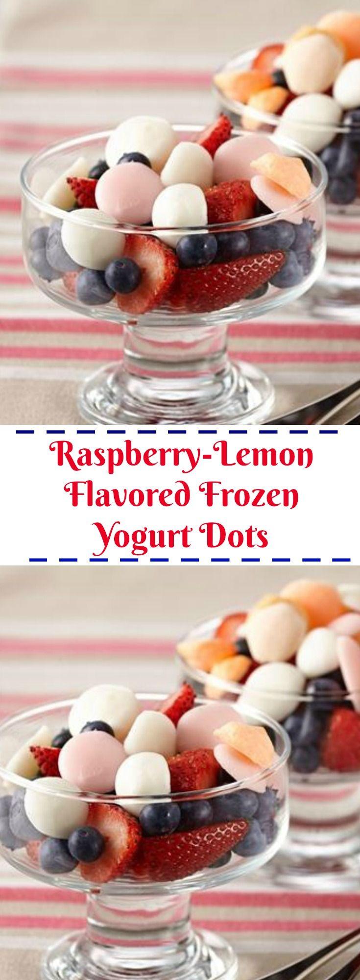 Raspberry-Lemon Flavored Frozen Yogurt Dots