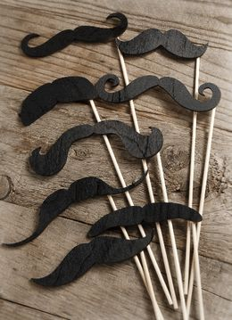 Oh my gosh. I just want these to play with around the house Wood Mustache Photo Props Set of Eight