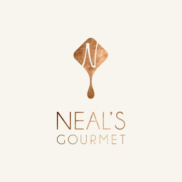 Logo design for Neal's Gourmet, a gourmet chocolate shop.