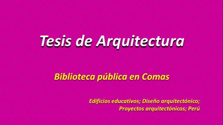 Tesis de Arquitectura 👉Biblioteca pública en Comas http://hdl.handle.net/10757/622548 Edificios educativos; Diseño arquitectónico; Proyectos arquitectónicos; Perú