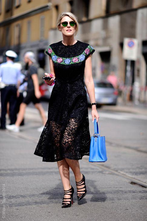 little bit lacy. Sofie in Milan. #Fashionata