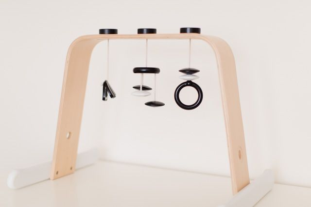 A Beautiful Wooden Play Gym for Less Than $20 - made with an Ikea Leka Play Gym!