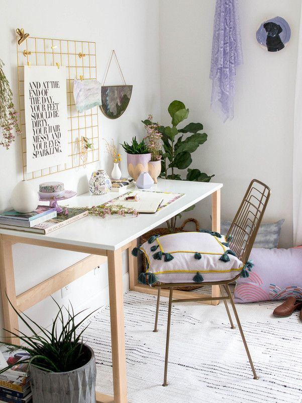 Lavender Decor Ideas For Home From Design Bloggers 2018 Lavender Decor Work Space Decor Workspace Inspiration