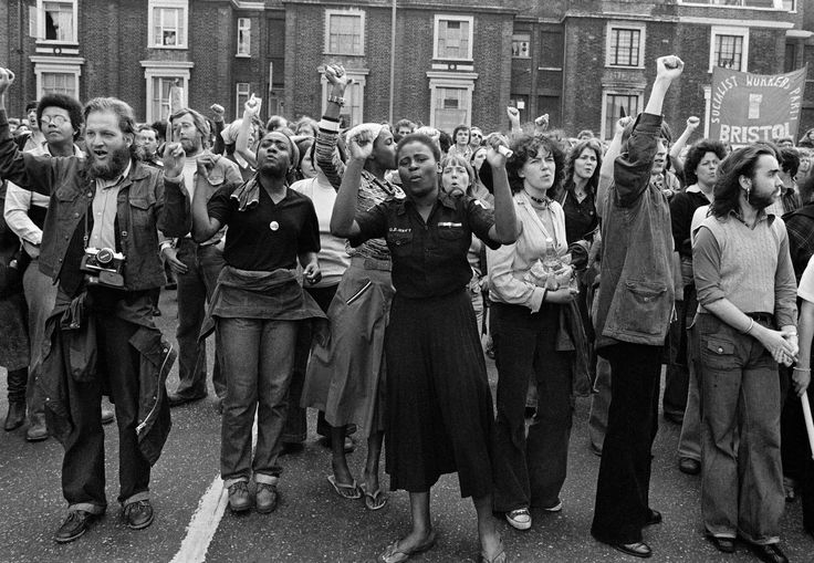 Anti-National Front Demonstration Lewisham, London, 1977.