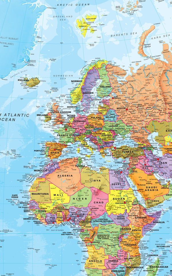 Political World Map Wallpaper Muralswallpaper In 2019 World Maps