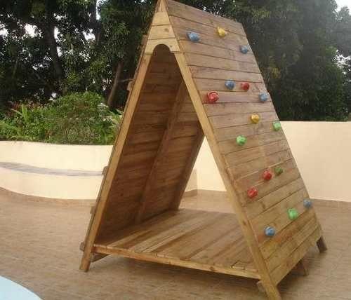 Casa de mu ecas en madera para ni os ideal para escalar - Casa infantiles de madera ...