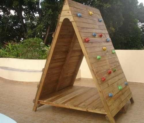 Casa de mu ecas en madera para ni os ideal para escalar - Casa madera infantil ...
