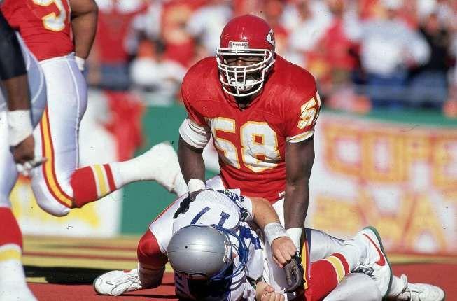 Nov. 11, 1990 - #DerrickThomas of The Kansas City Chiefs registered an NFL-record seven quarterback sacks.