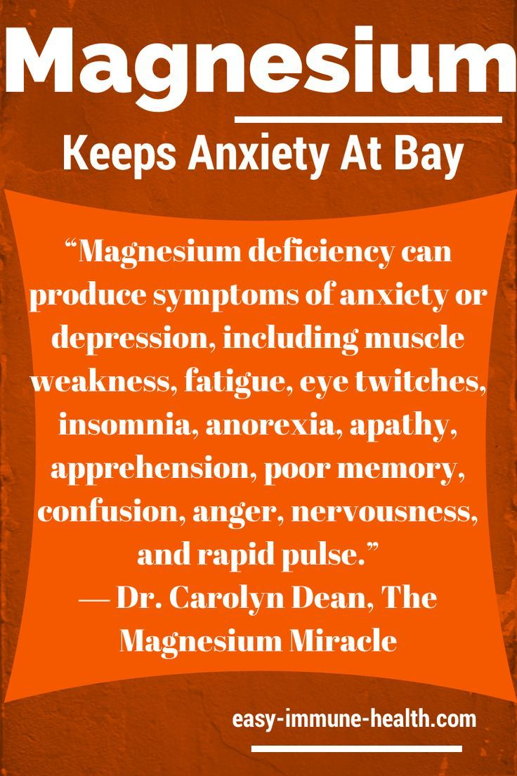 Sufficient levels of magnesium can keep anxiety at bay. Signs of magnesium deficiency are all around you:  www.easy-immune-h...