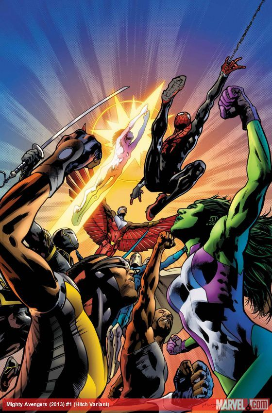 Al Ewing discusses She-Hulk, Spider-Man and the Blue Marvel before they assemble for Infinity! Learn more about the Mighty Avengers now! http://marvel.com/news/story/21102/meet_the_mighty_avengers_-_part_two