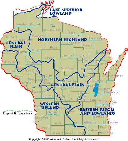 Wisconsin: Geographical Provinces: Lake Superior Lowland