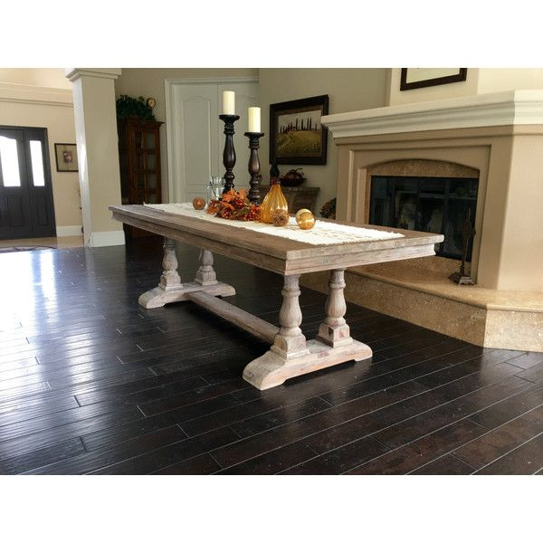 Lisa Custom Listing Oxford Baluster Dining Table X Antique Washed White Like Console Deposit
