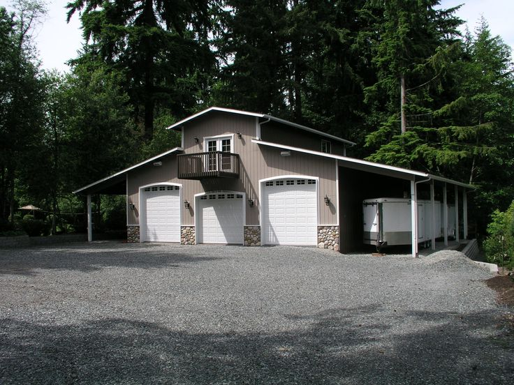 Welcome to ark custom buildings inc marysville wa garages for Pole barn garage with loft