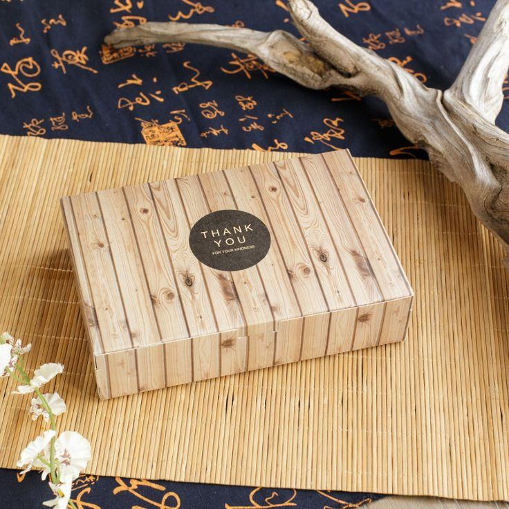 Новый 21*14*5 см 10 шт. деревянные зерна дизайн Бумажная Коробка печенья Macaron Шоколад Рождество День Рождения подарки Упаковка Baby Show купить на AliExpress