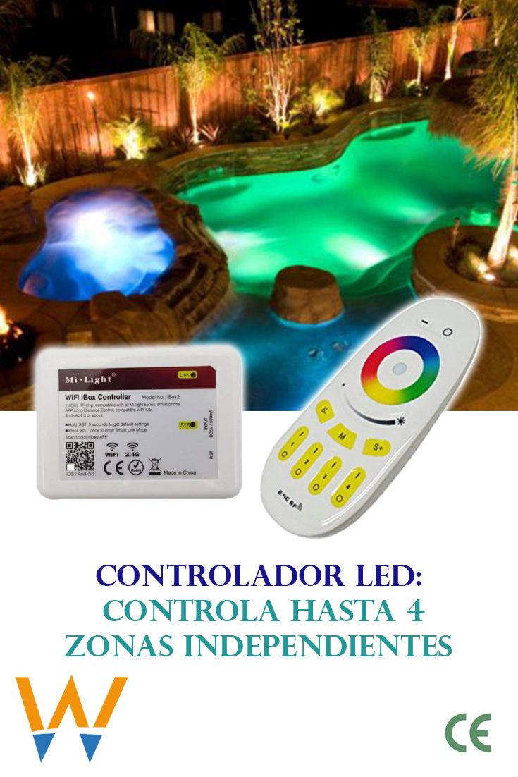 Controladores Rgbv Piscinas De Hormigon Sensor De Luz Sistemas De Seguridad
