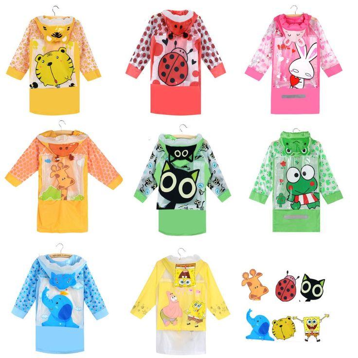 Cool Raincoat for Children Cartoon Kids Girls boy rainproof Rain Coat Waterproof Poncho Rainwear Waterproof Rainsuit Raincoat YY234-1 - $32.28 - Buy it Now!