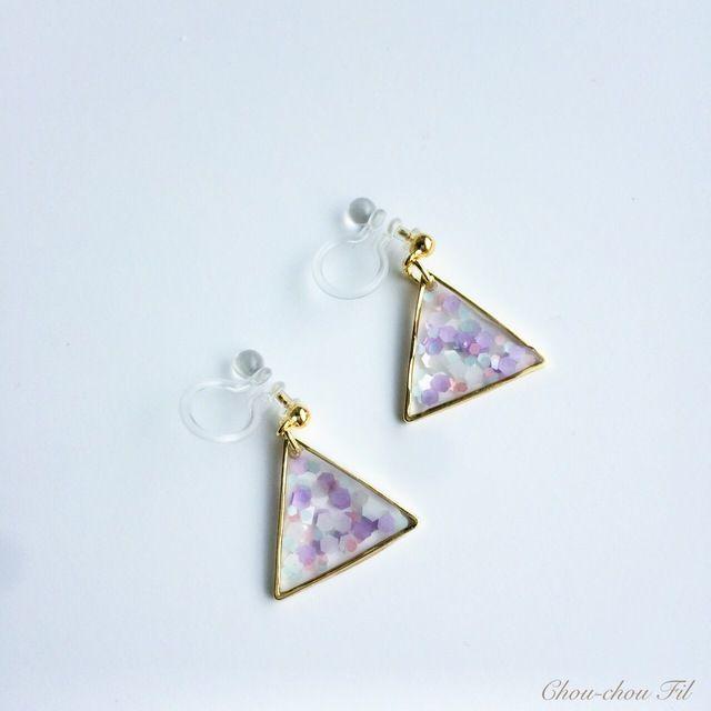 △holo color earring△