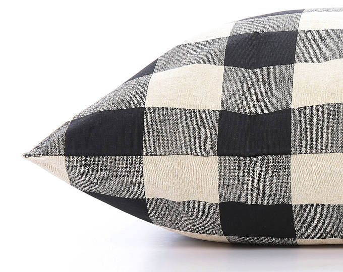 Buffalo Check Dog Bed Cover, Plaid Pet Bed Cover, Custom Dog Bed Duvet Cover, Modern Pillow-Style Cover for Small to Large Dog Beds