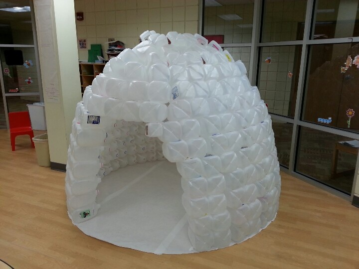 Milk carton igloo kids pinterest my mom mom and milk for How to build an igloo out of milk jugs
