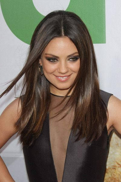 how to style medium straight hair best 25 medium hair ideas on 4047 | 7fc985f3e2de66309a71f0eeb96680e9 medium straight hair styles mila kunis hair