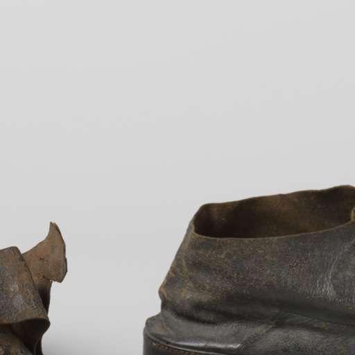 Schoen van zwart leer laag model met dubbele sluitriem, anoniem, ca. 1750 - ca. 1780 - Herenschoenen 18e eeuw-Verzameld werk van Inge Specht - Alle Rijksstudio's - Rijksstudio - Rijksmuseum