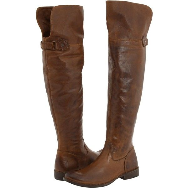 Frye Shirley Over-The-Knee Riding Women's Pull-on Boots, Brown ($288) ❤ liked on Polyvore