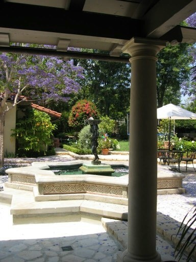 Patio Fountain Italian Style Villa