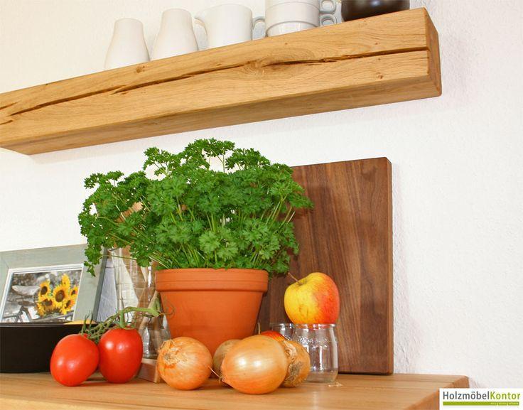 Küchenregal Eiche massiv. Regale aus Massivholz im http://www.holzmoebelkontor.de #Regal #Wandregal #Holzmöbelkontor #Massivholz #Eiche