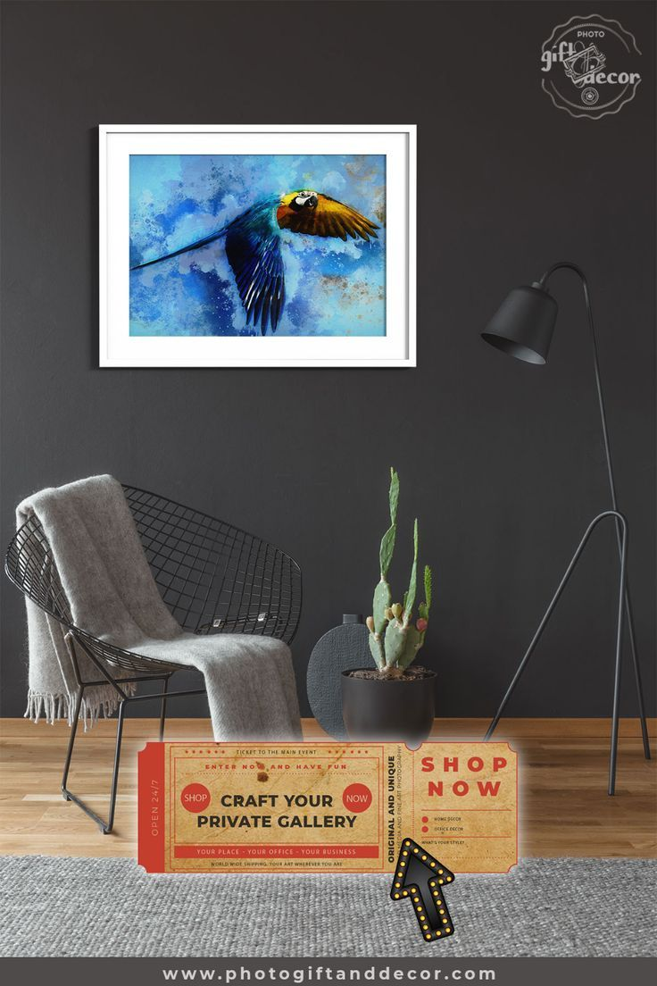 Hyacinth Macaw Habitat Mixed Media Art Photo Gift Decor