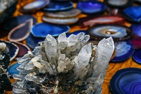 I have recent sales at 123rf Mineral crystals and stones in various structures