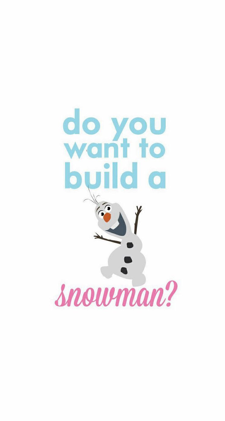 "Disney Frozen ""Do you want to build a snowman?"""