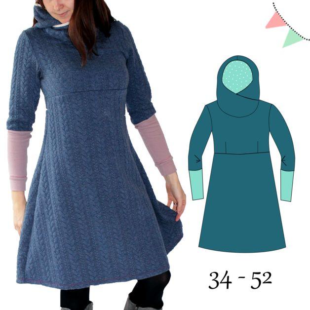 Das AnniNanni Kuschelkleid ist ein Kleid im Empirestil mit Brustabnähern. Vor allem ist es toll für Sweat und Sommersweat geeignet. Natürlich lässt es sich auch aus Jersey nähen, allerdings ist...