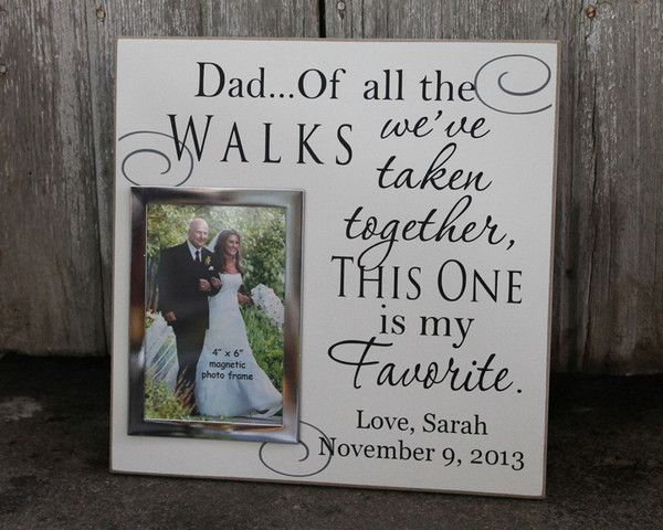 Fr 010 dad of all the walks bride groom picture frame wedding