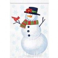 Loot Bags Snowman Re-Sealable, Pkt12, $4.95,  A379101