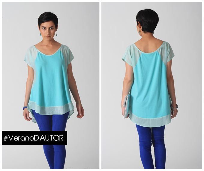 Camiseta Consuelo La Joya Desing - Patas gamuza azul Paula Dates - Sobre Plata Mikai