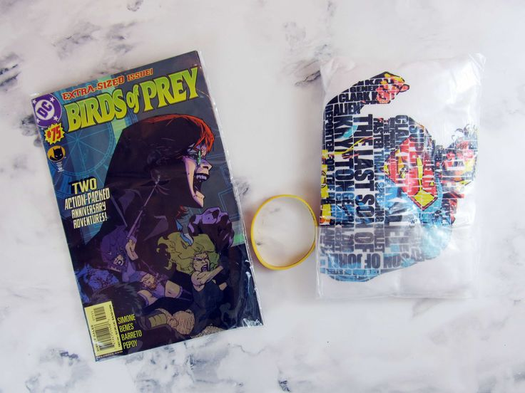 A typographic Superman t-shirt + a Birds of Prey comic book was included in our May 2017 TeeBlox! Here's the review + 15% off coupon code!   TeeBlox May 2017 Subscription Box Review & Coupon - DC Comics →  https://hellosubscription.com/2017/07/teeblox-may-2017-subscription-box-review-coupon-dc-comics/ #TeeBlox  #subscriptionbox
