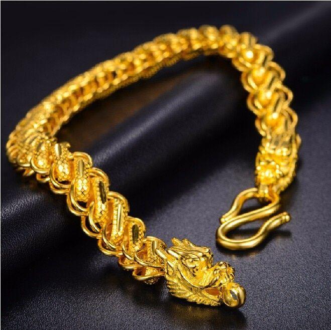 24k Yellow Gold Thailand Dragon Head