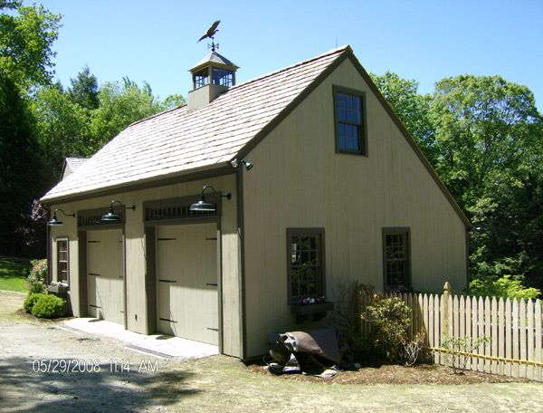 39 best garage images on pinterest cabana driveway for Carriage house shed plans