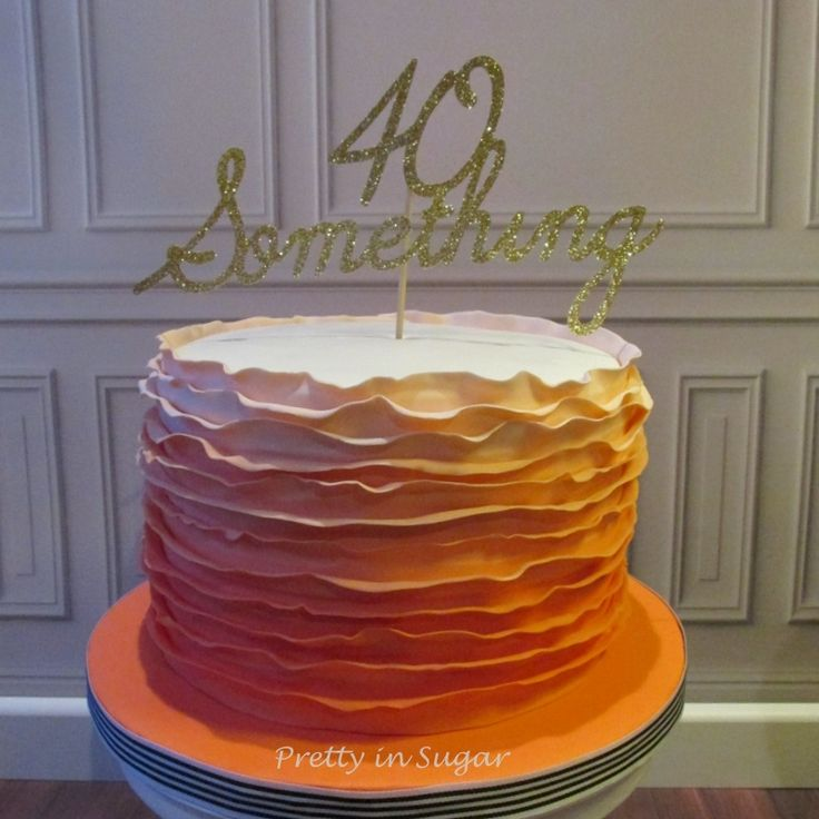 Ruffle Cake |  custom made Topper by London Sparkle