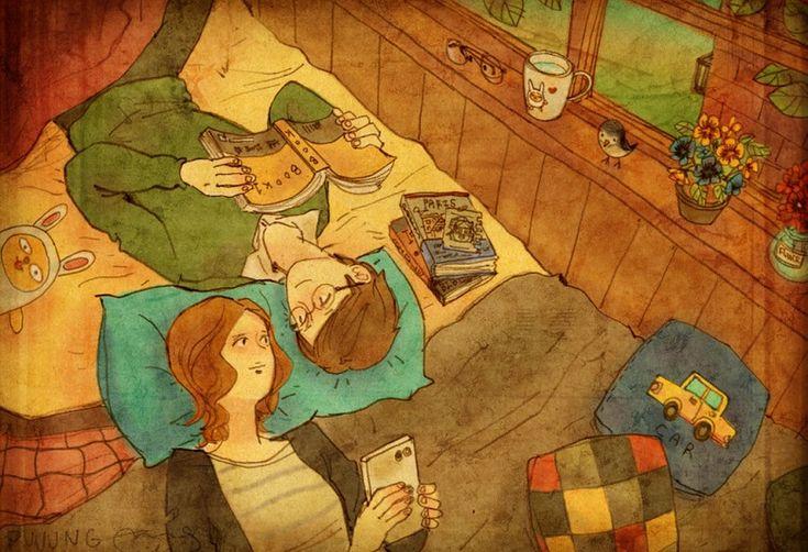 O amor e a felicidade ilustrados nas pequenas coisas da vida || Puuuung